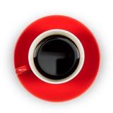 Tazza di caffè rossa Immagini Stock Libere da Diritti