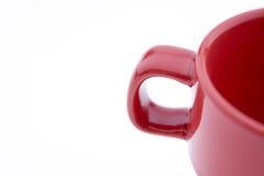 Tazza di caffè rossa Fotografie Stock Libere da Diritti