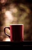 Tazza di caffè rossa Fotografia Stock Libera da Diritti