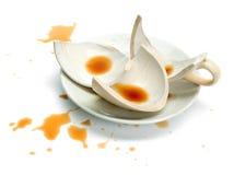 Tazza di caffè rotta Fotografie Stock