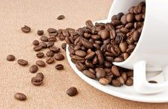 Tazza di caffè rovesciata Fotografia Stock