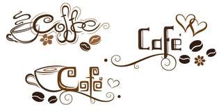Tazza di caffè, segnante Immagini Stock Libere da Diritti