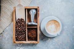Tazza di caffè squisito fotografie stock libere da diritti