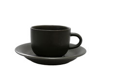 Tazza di caffè su bianco Fotografie Stock Libere da Diritti