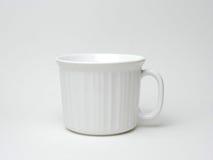 Tazza di caffè su bianco Fotografia Stock