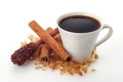 Tazza di caffè su fondo bianco Immagini Stock Libere da Diritti