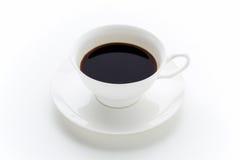 Tazza di caffè su fondo bianco fotografie stock libere da diritti