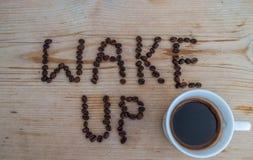 Tazza di caffè su fondo di legno Immagini Stock