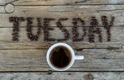 Tazza di caffè su fondo di legno Fotografie Stock