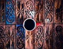 Tazza di caffè su legno Immagine Stock Libera da Diritti