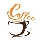 Tazza di caffè sui precedenti bianchi Illustrazione Vettoriale