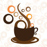 Tazza di caffè sui precedenti bianchi Royalty Illustrazione gratis