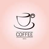 Tazza di caffè sui precedenti rosa Illustrazione di Stock