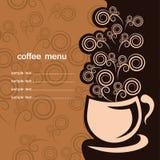 Tazza di caffè sui precedenti scuri Illustrazione Vettoriale