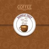 Tazza di caffè sui precedenti scuri Royalty Illustrazione gratis