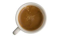 Tazza di caffè sul fondo dell'isolato Immagine Stock