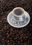 Tazza di caffè turco fotografia stock