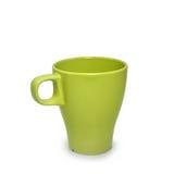 Tazza di caffè verde su fondo bianco Fotografie Stock Libere da Diritti