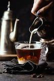 Tazza di caffè di vetro immagine stock libera da diritti