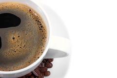 Tazza di caffè vicina di vista Immagini Stock Libere da Diritti