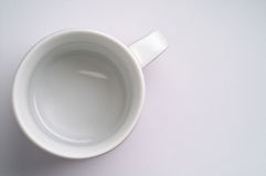 Tazza di caffè vuota Fotografie Stock