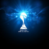 Tazza di calcio del mondo dell'icona Vettore Immagini Stock Libere da Diritti