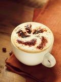 Tazza di cappuccino Fotografie Stock Libere da Diritti