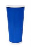 Tazza di carta blu Fotografie Stock Libere da Diritti