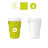 Tazza di carta chiusa per caffè con struttura illustrazione vettoriale