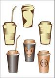 Tazza di carta con caffè Fotografie Stock Libere da Diritti