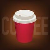Tazza di carta del caffè Fotografia Stock