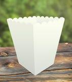 Tazza di carta del popcorn Immagini Stock Libere da Diritti