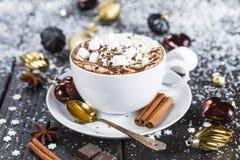Tazza di cioccolato caldo Immagini Stock Libere da Diritti