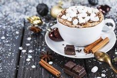 Tazza di cioccolato caldo Fotografia Stock