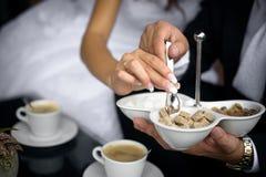 Tazza di Cofee e dello zucchero Fotografie Stock