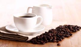 Tazza di coffe caldo Fotografia Stock Libera da Diritti