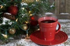 Tazza di cottura a vapore del caffè Fotografie Stock Libere da Diritti