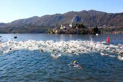 Tazza di Cusio, Triathlon olimpico Fotografia Stock Libera da Diritti
