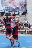 TAZZA 2013 di Granollers. Giocatore che spara la palla Fotografia Stock