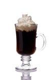 Tazza di irish coffee su bianco Fotografia Stock Libera da Diritti
