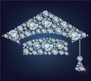 Tazza di istruzione fatta dai diamanti Fotografia Stock