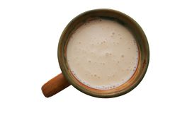 Tazza di latte acido Fotografia Stock