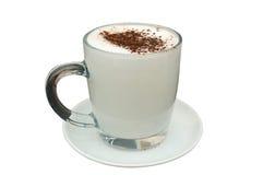 Tazza di latte caldo con cacao fotografia stock