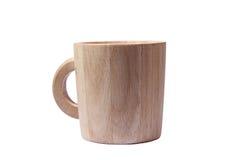 Tazza di legno Fotografie Stock Libere da Diritti