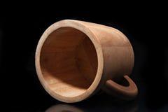Tazza di legno Immagine Stock