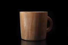 Tazza di legno Fotografia Stock