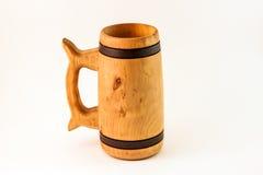 Tazza di legno Immagini Stock