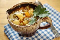 Tazza di minestra Fotografie Stock