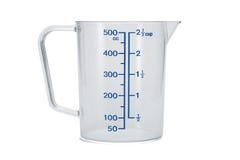 Tazza di misurazione di vetro Fotografia Stock Libera da Diritti
