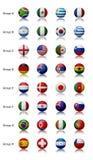 Tazza di mondo 2010 - tutte le squadre Fotografie Stock Libere da Diritti
